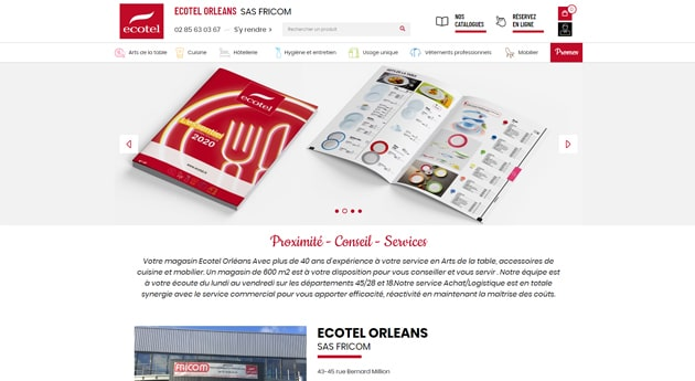 Site magasin Ecotel