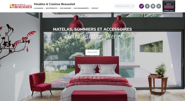 Site magasin Gallery Tendances