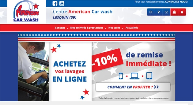 Site station lavage American Car Wash
