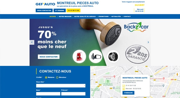 Site magasin Gef'auto